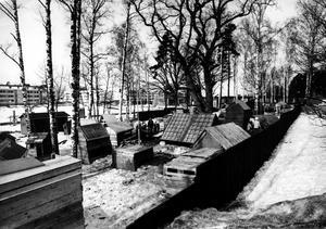 Byggleken på Viksäng någon gång under 1970-talet.
