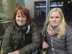 Marie Paschen och Anna-Kari Palm fick inte komma in på Järnvägshotellet efter att ha kommit tillbaka från Gavlerinken, på grund av branden.