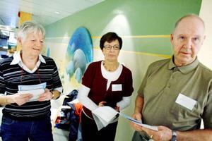 Ulla Nilsson, Maj-Lis Jonsson och Staffan Johansson från hjärt- och lungfondens lokalförening i Östersund passade på att informera om sin verksamhet.
