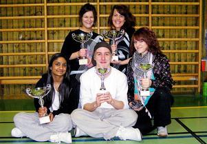 Övre raden från vänster: Ida Nordengren, Linn Wedin. Nedre raden från vänster: Emelie Öhman, Tom Strömberg, Julia Andersson. Saknas på bilden gör Natalie Strömberg och Felicia Widén.