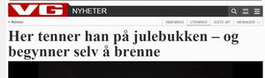 VG berättar om händelsen i både text och TV.