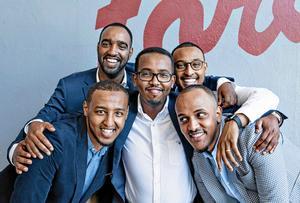 Yosef Mohamed, Khalid Qassim, Mustafa Ibrahim, Ali Mohamed och Abdirahman Ahmed är ansiktena bakom företaget. (Arkivbild)