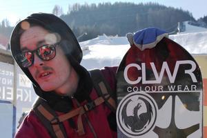 Niklas Mattsson hade ingen över man i SM i snowboard.