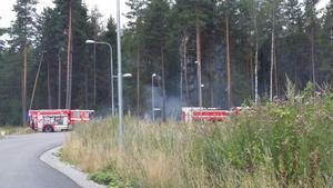 Läsarbild från branden i Bettorp.