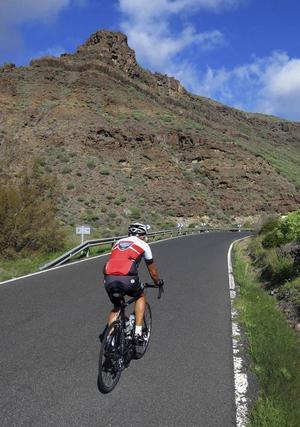 Arguineguindalen bjuder på skön cykling med nästan ingen stigning de 15 första kilometrarna.Foto: Johan Öberg