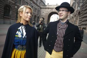 Louise Erixon med partiledaren och pojkvännen Jimmie Åkesson.