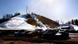 Vedbobacken i mars 2012.