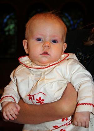Astrid Elisabeth döptes den 10 november.