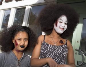 Luleya och Diana Lechom hade riktigt läskiga, men snygga ansiktsmålningar.