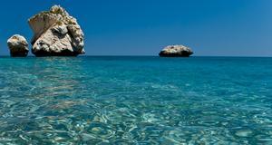 Cypern har det renaste vattnet i Europa. Här vid Afrodites födelseplats.