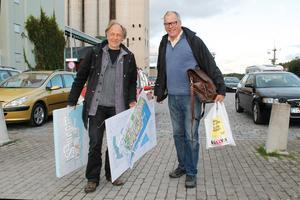 Mats Wedberg och Johnny Rosén från föreningen Mötesplats Norrtälje vill ge Norrtäljeborna chans till fler kulturupplevelser.