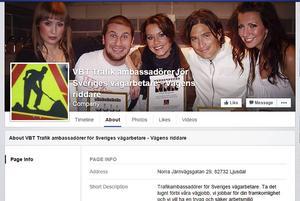 Flera kändisar används som affischnamn på trafiksäkerhetsföreningens Facebooksida.