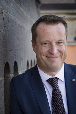 Inrikesminister Anders Ygeman talade i Ockelbo och Gävle under första maj.