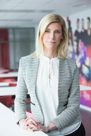 Jessica Sjöberg är presschef på Viasat. Hon berättar att detta beteende inte är acceptabelt. Foto: MTG.