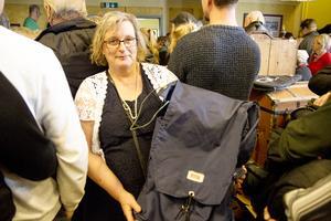 Ett fynd. Anne Håkansson var nöjd efter att hon ropat hem en ryggsäck för 20 kronor,