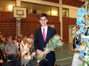 Daniel Alouch fick 5 000 kronor i stipendium när han slutade nian på Rotskärsskolan.