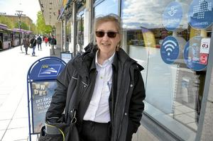 På väg. Åsa Lidholm ska ut på sitt pass som bussförare.