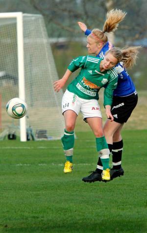 Matchen mellan Josefin Arvidssons K/D och Anna Jonssons ÖDFF kännetecknades av kamp och mycket vilja från båda lagen