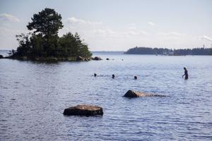 Sommardagen bjöd på så mycket värme att ett dopp i havet blev oundvikligt.