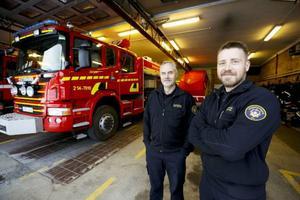 Järpens station har fått en släck- och räddningsbil som snabbare ska ge hjälp, berättar Kent Eriksson och David Ekblom på stationen i Järpen.