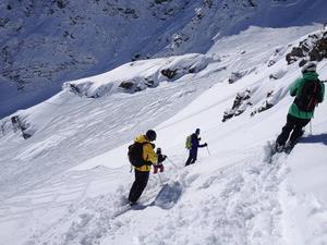 Britt-Marie Bergström med vänner under en av de härliga resorna till italienska Aostadalen.   Foto: Privat