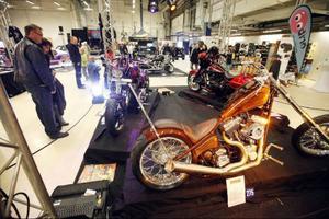 Motorcyklar i diverse former och färger kunde beskådas under Motormässan på Frösö park i helgen.