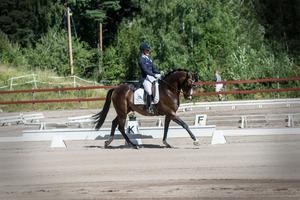Landslagsryttarinnan Emilie Nyreröd kom till Falun och Daladressyren med två hästar. Bäst gick det tillsammans med Manuel, med två segrar i sin klass.