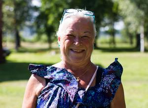 Gertrud Hedqvist njuter i Vivstavarvsidyllen.