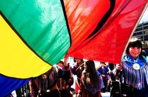 I dag firas samernas nationaldag och ett planerna från sameföreningen var att ha ett gemensamt firande vid rådhuset – men allt för många väljer att åka till Jokkmokks marknad i stället. Därför ställs firandet in.Foto: Scanpix