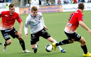 Erik Nilsson, här i ÖSK-tröjan, gjorde mål i sin debutmatch för Ljungskile.