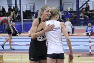 Erika Bergentz efter 1 000-metersloppet i Triumfglasspelen i december,