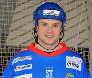Karl Högberg har gjort några hattrick den här säsongen. Mot Karlsborg kom ett till.