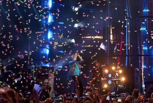 Coldplay är kända för sina mäktiga scenshower.