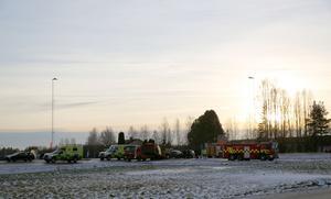 Två bilar var inblandadae i kollisionen i korsningen på E 45 strax utanför Mora.