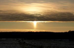 Solnedgång i Trättsbo i Norberg