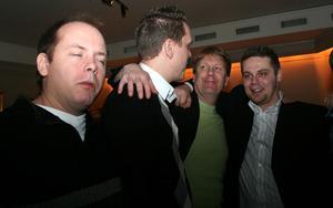 Blue Moon Bar. Juppe, Johan, Per och Fredrik