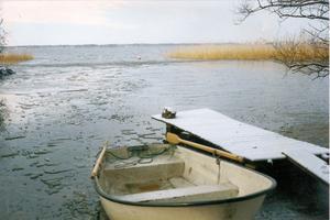Till kaj efter rodd från Björnön. Almö-Lindö Vintern 2009