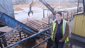 Fredrik Marnefeldt är vd för Karl Hedins sågverk. Bilden är tagen vid ett annat tillfälle. Foto: Kenneth Westerlund/Arkiv