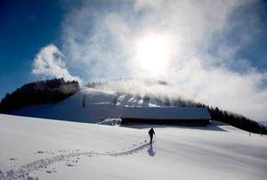 Skidåkning i schweiziska alperna kan komma att tillhöra historien om klimatförändringen fortsätter.
