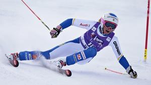 Frida Hansdotter slutade på nionde plats.
