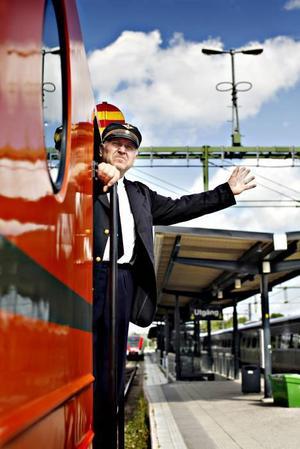 Lokföraren Sten Holm körde jubileumståget.