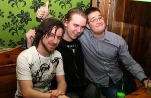 Konrad. Sam, Linus och Andreas
