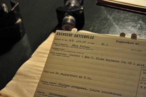 Ett av alla de hundratals rapportkort som finns bevarade.
