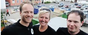 Lärarna Staffan Seijsing, Kristin Andersson och Curt-Åke Wanberg är fulla av tillförsikt för att bygget av nya Lust och Lära ska bli klart.