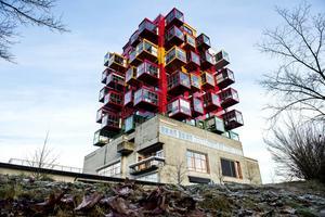 Nicklas Nybergs spektakulära bostadshus Ting1 i Örnsköldsvik.