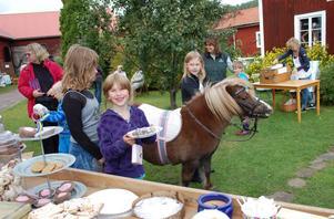 Barn, vuxna, en häst –och hembakat kaffebröd. Många tog chansen att besöka och trivas under hantverksmarknaden i Sifferbo.