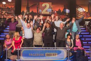 Här är gänget från Fagervik som har chans att vinna stora pengar.