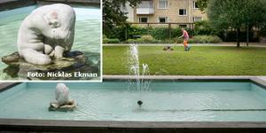 Har du sett Tummelisa? Statyn stals från Roslagsparken någon gång mellan 28 och 30 juli.