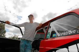 Det går bra för Pontus Lönnström, i helgen vann han en deltävling i svenska rallycupen i sin klass.