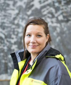 Mona Huovinen, presskommunikatör vid Trafikverket.
